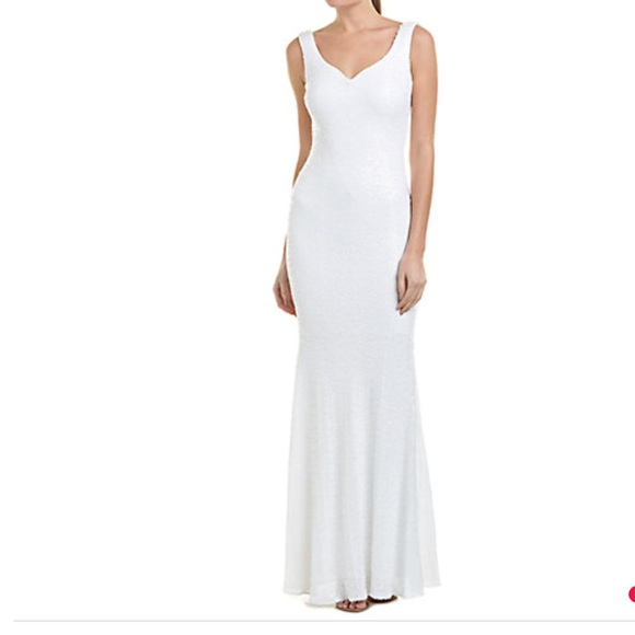 Badgley Mischka Dresses | New Sequined Evening Gown Size 2 | Poshmark